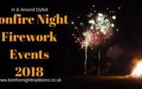 Dyfed Bonfire Night Firework Events 2018