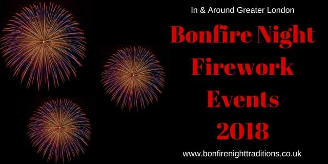 London Bonfire Night Firework Events 2018