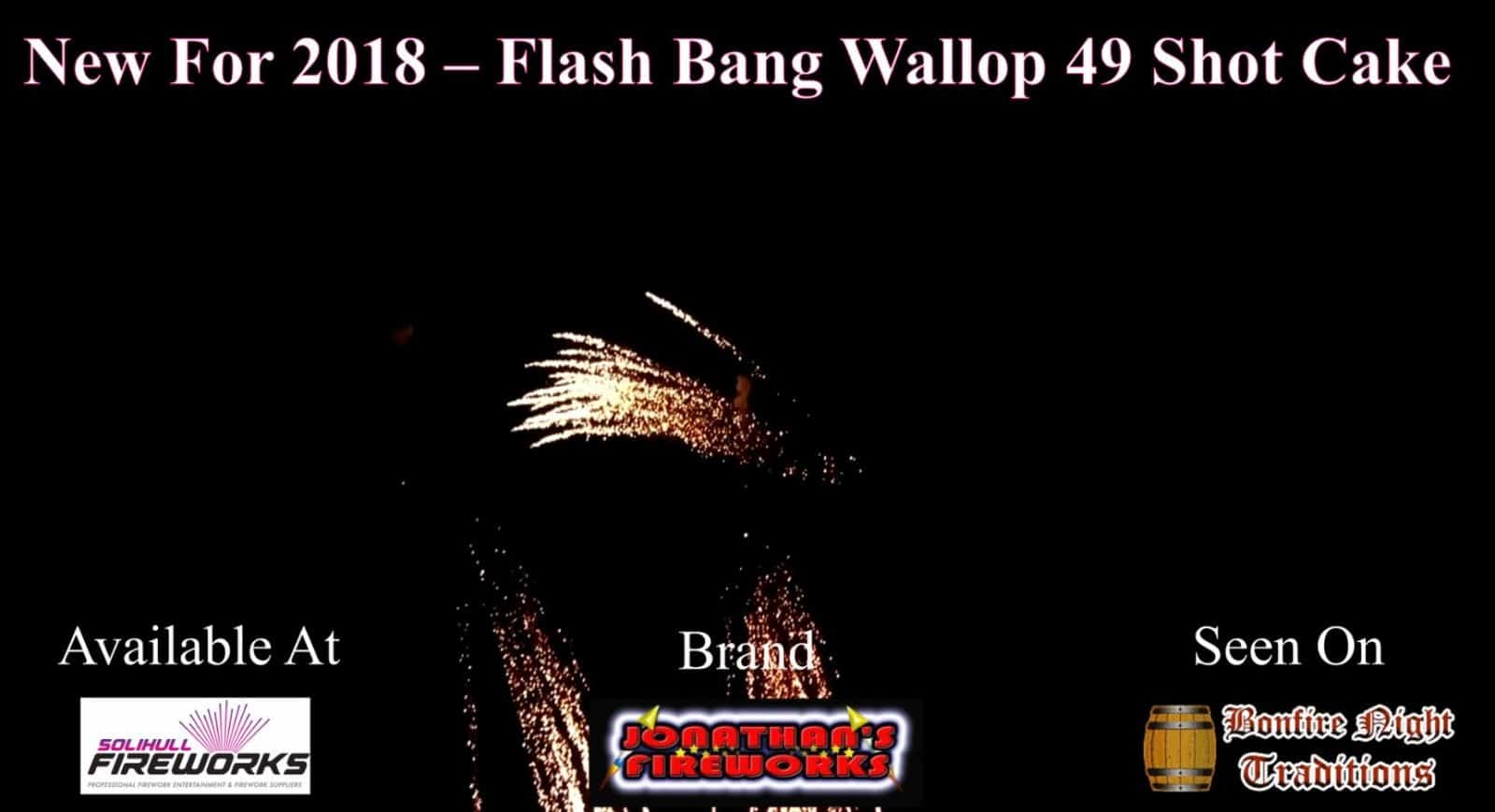 New For 2018 – Flash, Bang, Wallop 49 Shot Cake