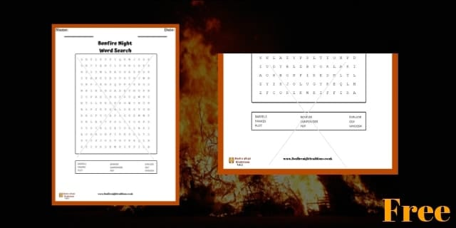 Bonfire Night Word Search 2