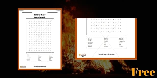 Bonfire Night Word Search 3