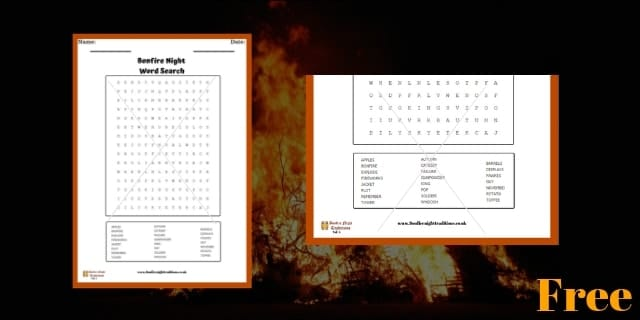 Bonfire Night Word Search 4