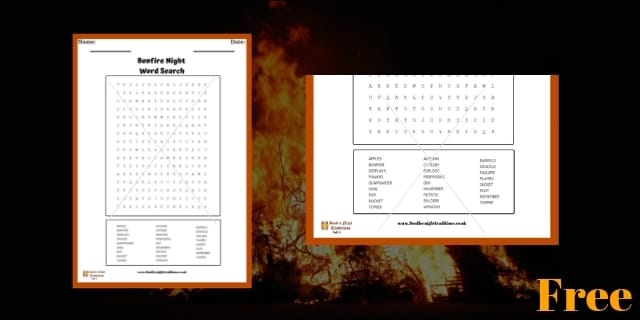 Bonfire Night Word Search 5