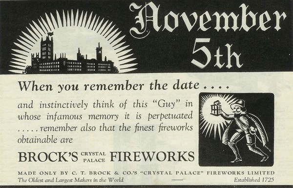 C.T. Brock & Co's 'Crystal Palace' Fireworks