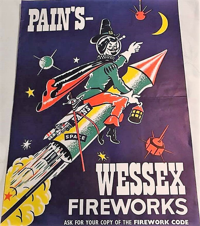 1974-76 - Pains-Wessex Poster - Guy Fawkes on Rocket