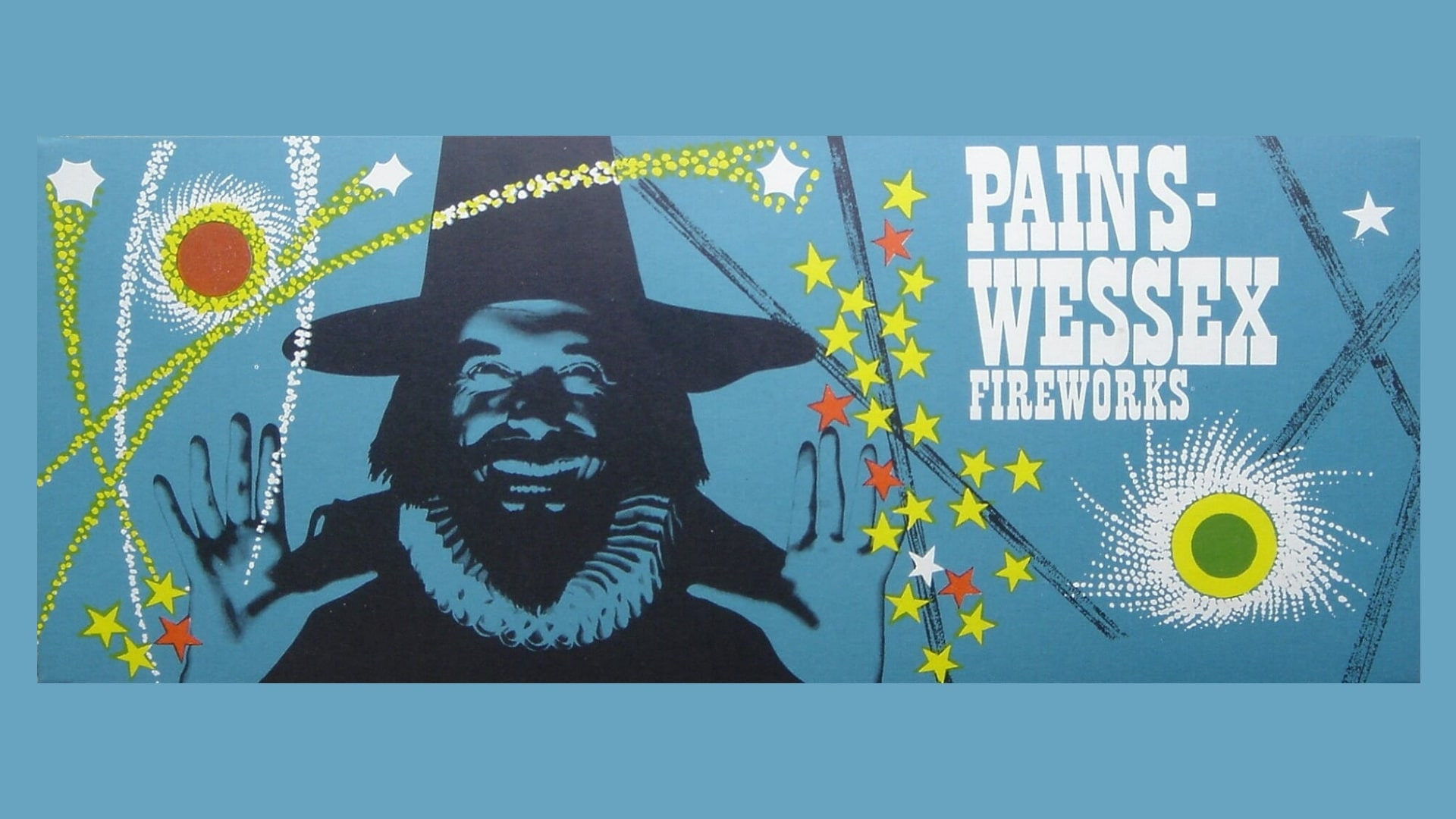 Pains Wessex Fireworks selection box design
