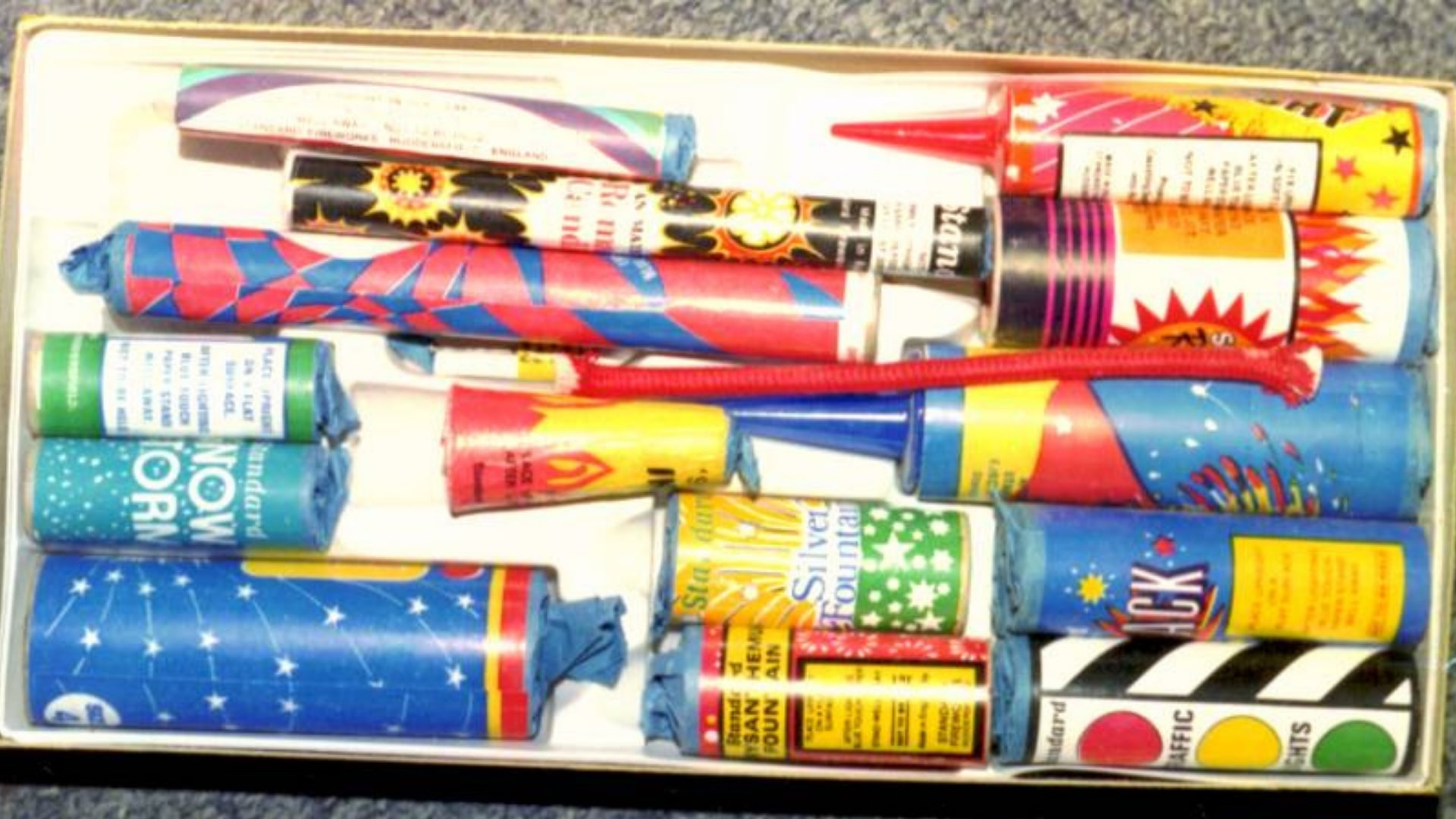 Vintage Firework Brands Standard boxes from 1980`s.